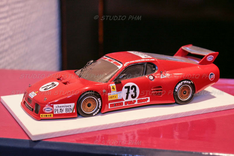 FERRARI 512BB LM N°73 T.BIRD RACING.SWAP SHOP. Le MANS 82 AMR 1 43 By PHM N BBR