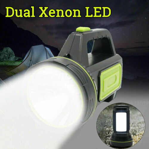 Xenon LED Work Light Powerful Spotlight Hand Lamp 2 Modes Torch USB Rechargeable