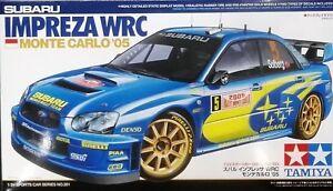 TAMIYA-SUBARU-IMPREZA-WRC-MONTE-CARLO-2005-KIT-MONTAGGIO-1-24-ITEM-24281
