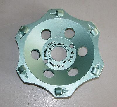 Profi Ø125mm PKD Diamant-Schleifteller Schleiftopf Topfschleifer Epoxid Bitumen