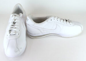 pretty nice 305c9 d56ea Image is loading Nike-Shoes-Air-Cortez-Classic-Leather-White-Sneakers-