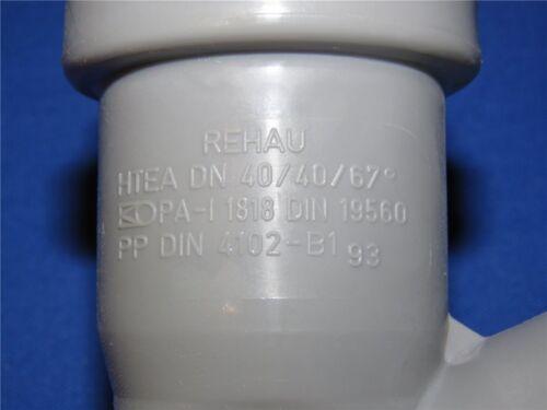 1 x REHAU HT Abflussrohr Abzweig HTEA DN40//40//67° Installation Abwasser Rohr