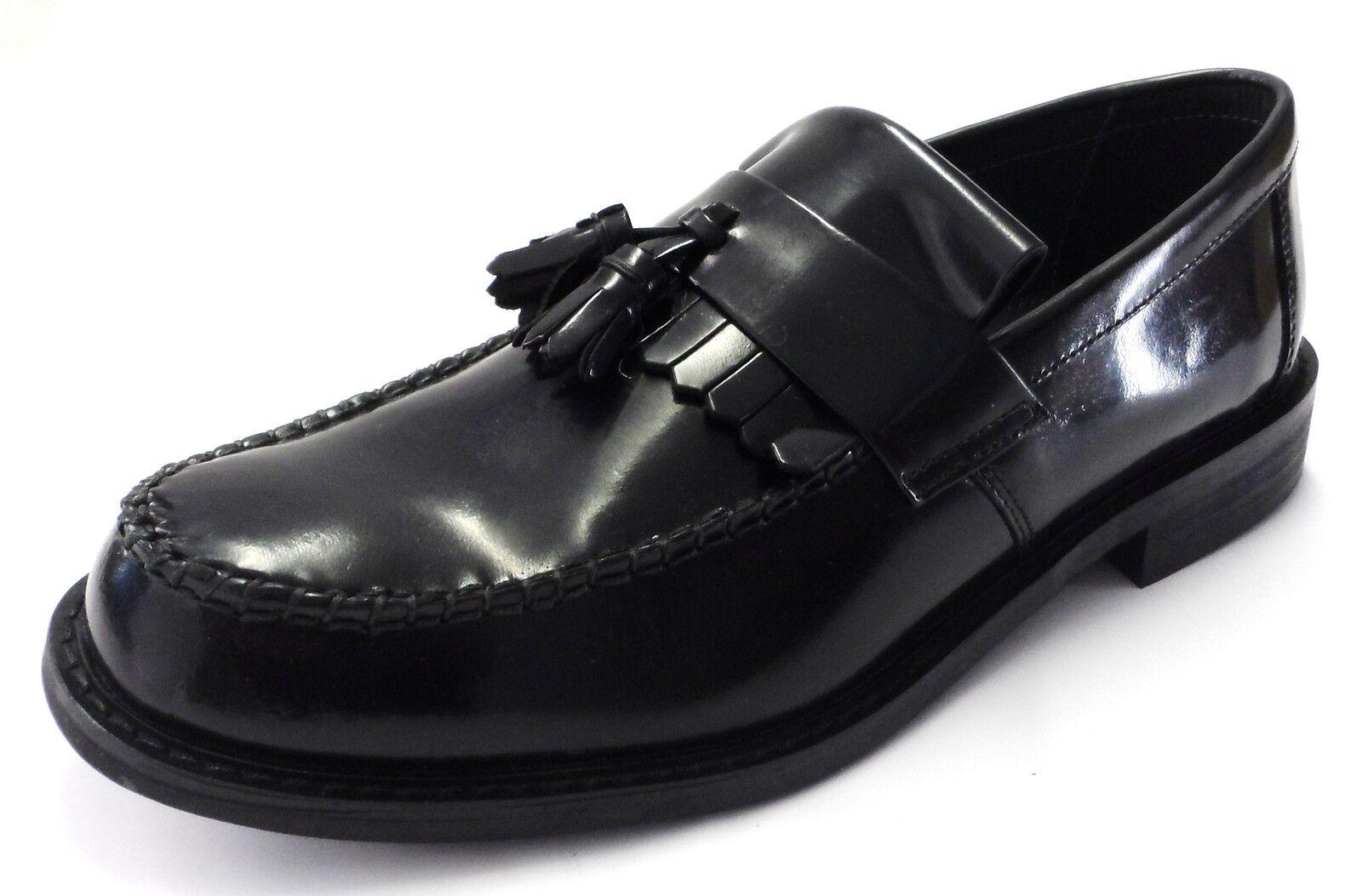 Venta de liquidación de temporada Farah Hombres Con Cordones Form LO Ante Marrón Zapatos negros far0009