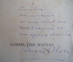 Envoi-Autographe-Edmond-Pilon-a-Francis-Eon-BONNES-FEES-D-039-ANTAN