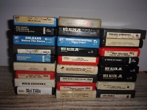 Lot-Of-26-8-Track-Audio-Tapes-Mixed-LOT-D