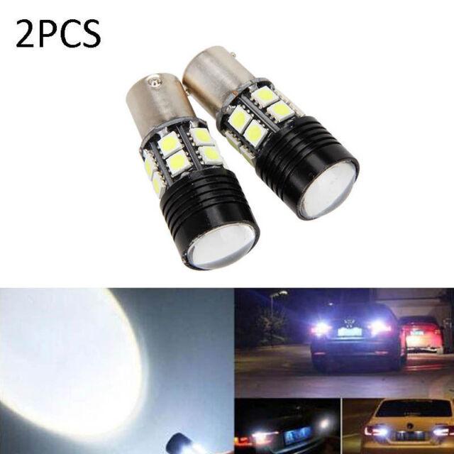 2x Canbus No Error 1156 BA15S P21W LED Car Tail Backup Reverse White Light Bulb