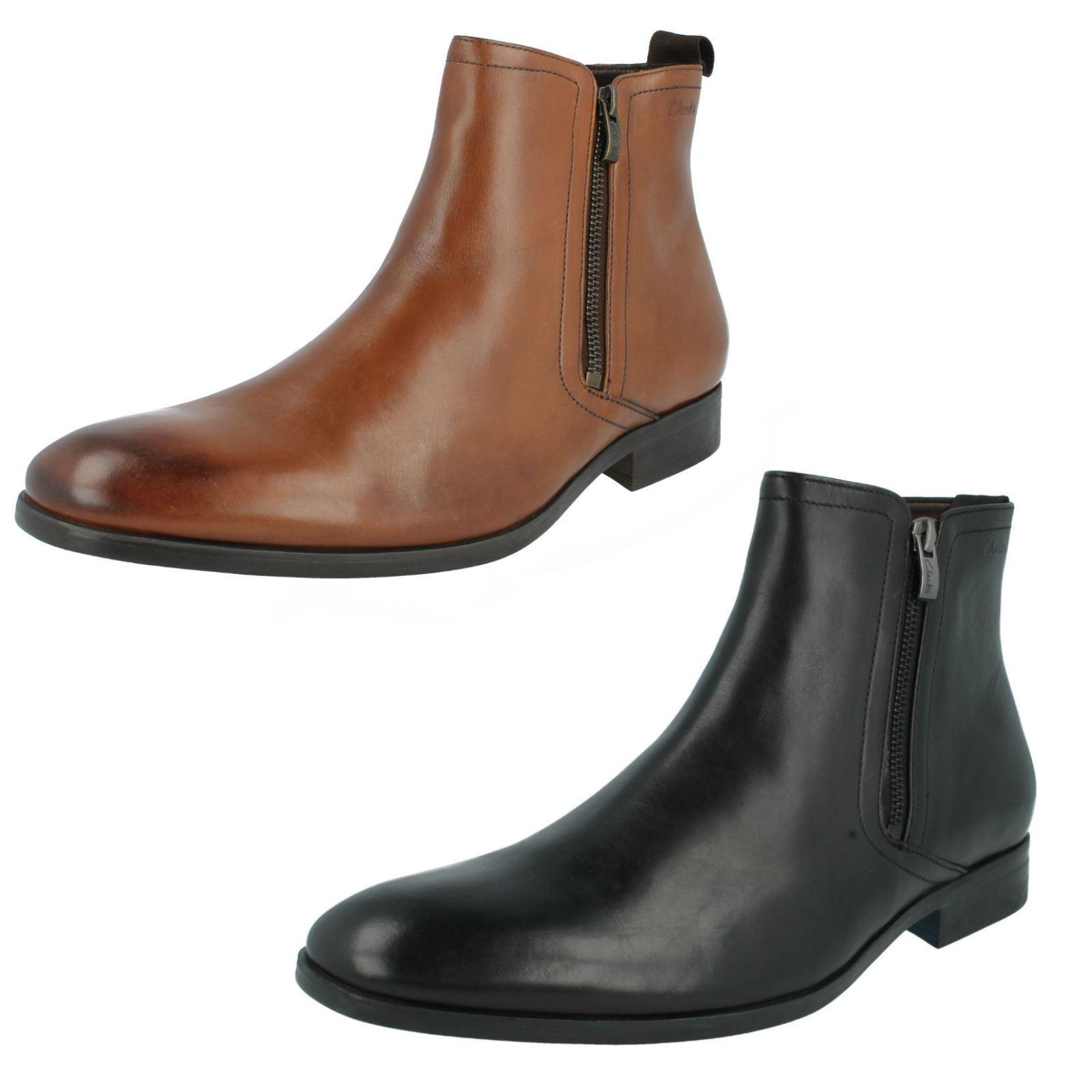 Clarks Da Uomo ** Banfield ZIP Wlined Stivali ** 10 confortevole & Flessibile /US 10 ** a9299c
