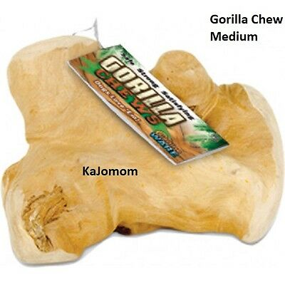 Gorilla Chews Dog Medium Bone Java Wood Treat Genuine