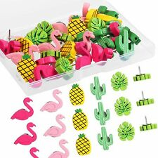 Decorative Push Pins For Cork Board Flamingo Pineapple Cactus Palm Leaf Office