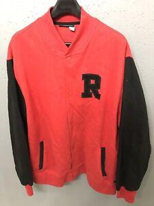Details about Rocawear Vintage Letterman Varsity Jacket Men's Size 3x 3XL Wool Black Red