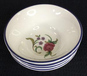 Lenox Casual Images Rose Garden Set Of 4  Fruit Sauce Bowls 9 Oz Made In Japan