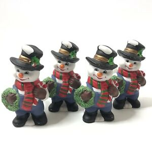 Set-of-4-Snowman-Frosty-Napkin-Rings-Christmas-Dinner-Party