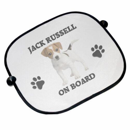 Jack Russell On Board Car Sun Shades Brand New 45cm x 36cm