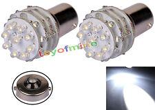 2X BA15S 1156 36 LED Pure White Tail freno del coche Luz indicadora 12V