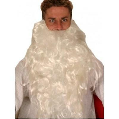 Santa Beard  White  Father Christmas  extra long 50cm REDUCED TO CLEAR SALE