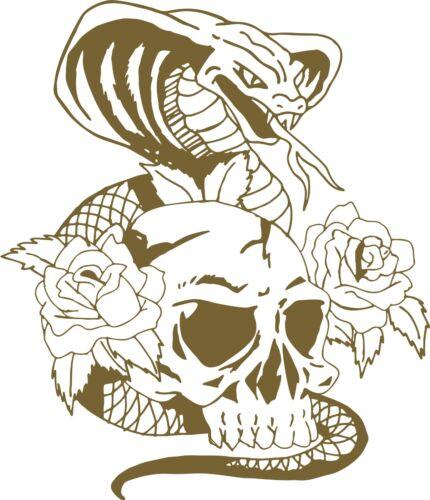 Snake Cobra Skull Flowers Roses Car Truck Window Laptop Vinyl Decal Sticker