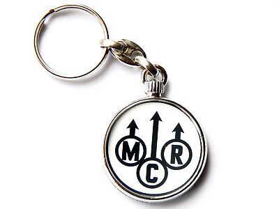 MY CHEMICAL ROMANCE Rock Band Large Chrome Keyring Picture Both Sides