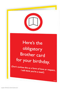 Image Is Loading Brother Bro Birthday Greetings Card Funny Humour Cheeky