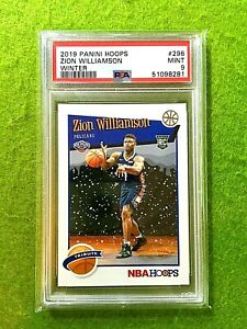 ZION WILLIAMSON ROOKIE CARD GRADED PSA 9 PELICANS SP RC 2019-20 NBA Hoops WINTER