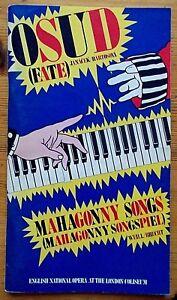 Osud (Fate) & Mahagonny Songs programme English National Opera ENO 1984