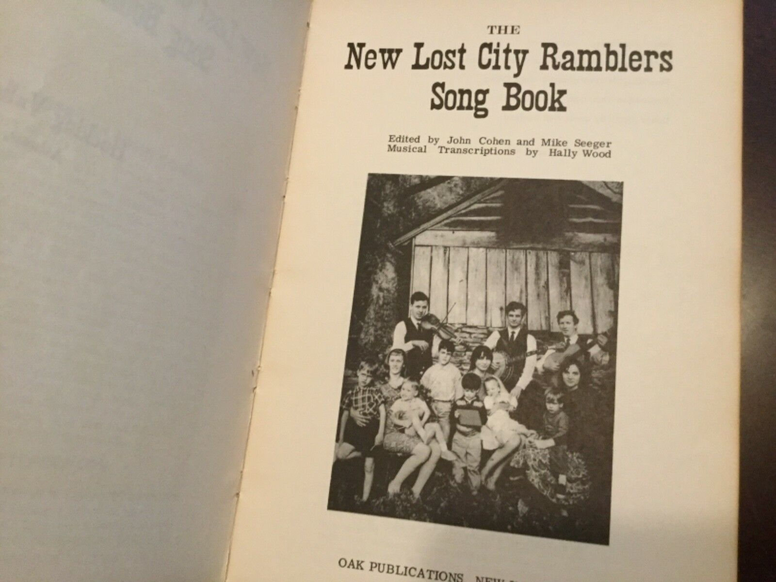 New Lost City Ramblers song book, Seeger, American folk music revival 1974
