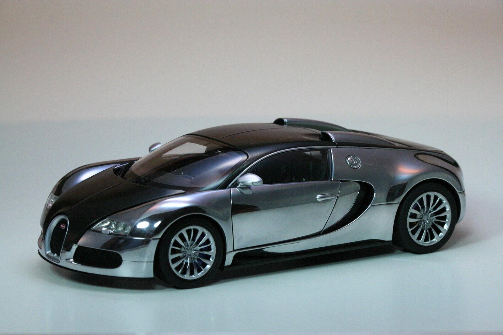 AutoArt Bugatti Veyron 16.4 Pur Sang Noir Aluminium 70966 Ltd. 1 18 Nouveau neuf dans sa boîte