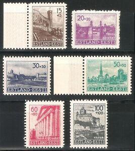 DR-Nazi-3rd-Reich-Rare-WW2-Stamp-1941-Castles-Hitler-Estonia-Occupation-Estland