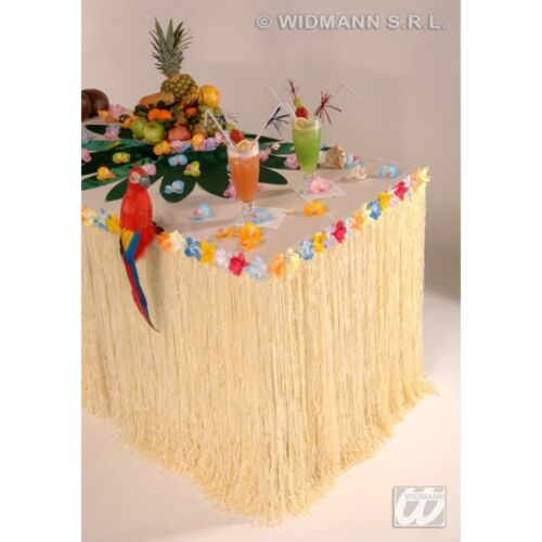 Table Skirt Tropical Flowers Hawaii Hula Fancy Dress Costume Party Decoration