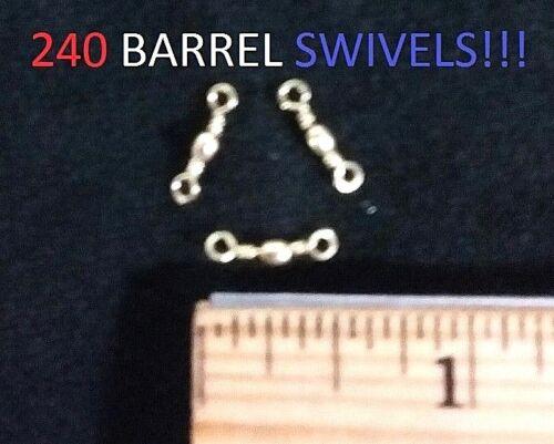 240 Eagle Claw Sz.14 Brass Barrel Swivels 01021-014 EB170203