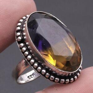 Ametrine, 925 Solid Sterling Silver Gemstone Ring Us 8 , USA2589