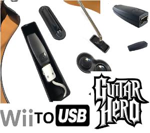 WII to USB controller converter adapter Clone Hero Guitar Hero Compatible