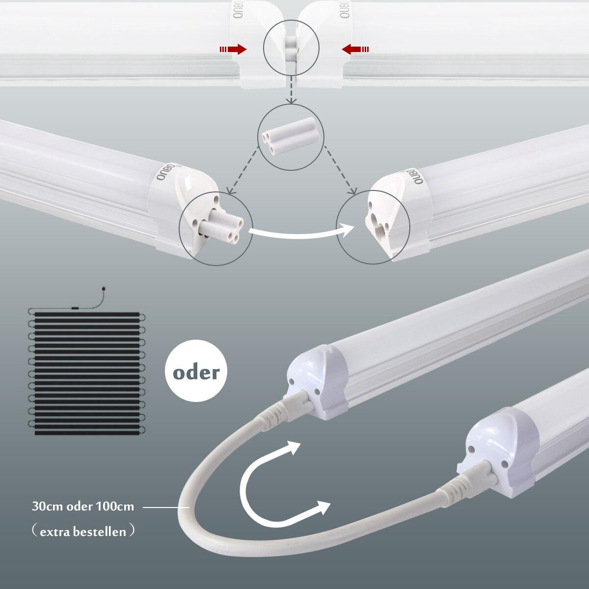 LED Leuchtstoffröhre mit Fassung T8 Leuchtstofflampe komplett Set ...