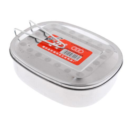 Portable en Acier Inoxydable Ovale School Student Boîte Déjeuner Picnic Food Container