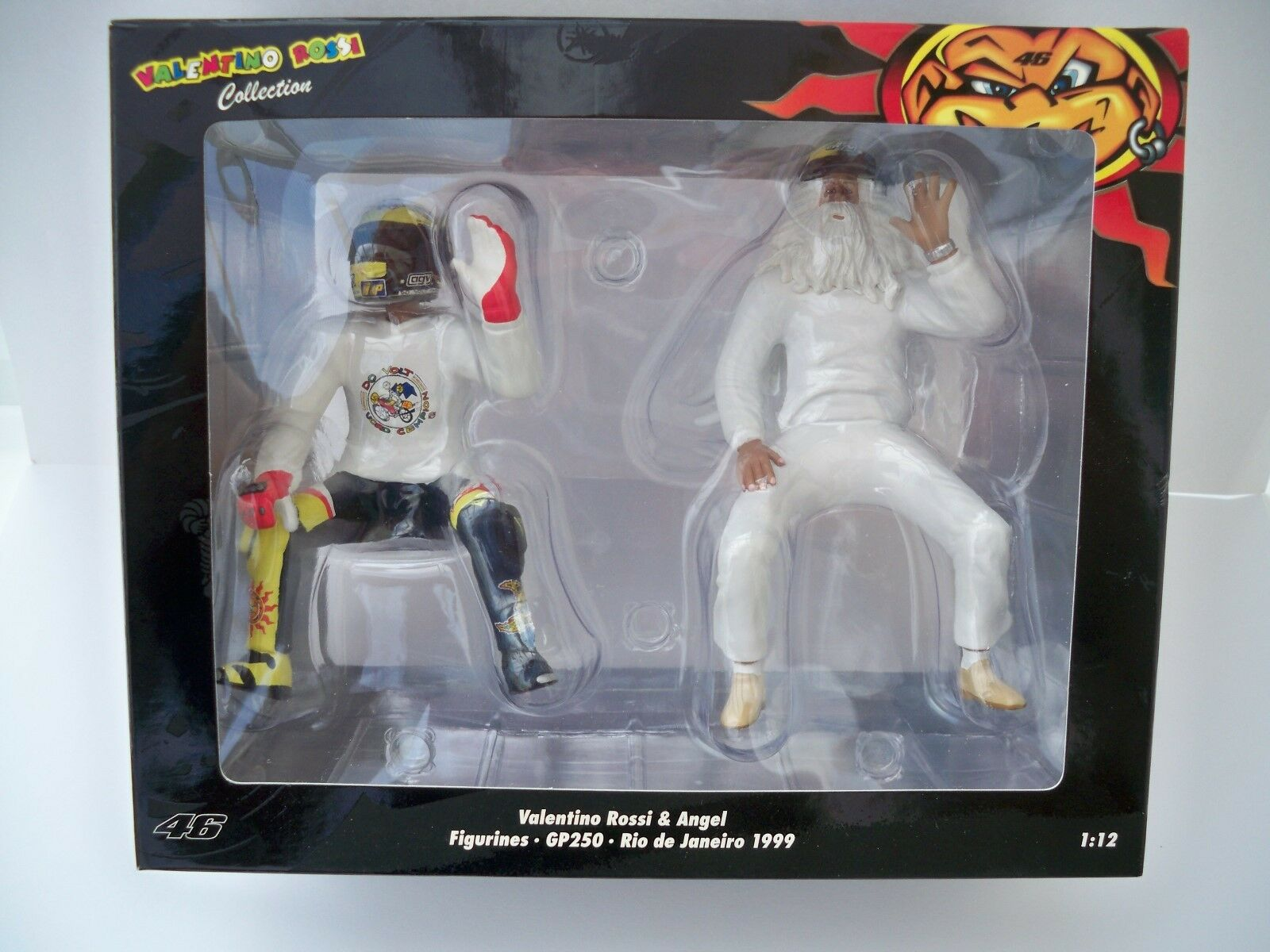 MINISTAMPS FIGURINE V.ROSSI OCH ANGEL GP250 RIO DEJANEIRO 1999 (NEW) 1 12