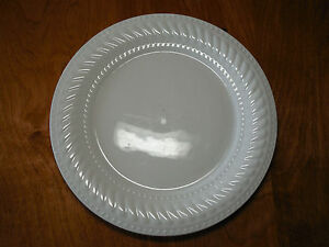 Image is loading Gibson-IMPERIAL-BRAID-WHITE-Set-of-8-Dinner- & Gibson IMPERIAL BRAID WHITE Set of 8 Dinner Plates 10 5/8\