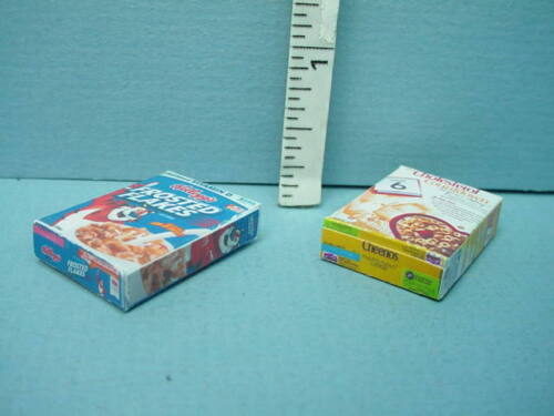 2 diff Scale Non-Edible Cindy/'s Minis 1//12th Miniature Breakfast Cereal