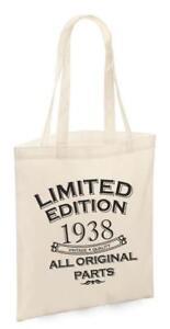 81st Birthday Gifts Present Year 1938 Shopping Shopper Keepsake Womens Tote Bag