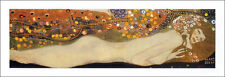 GUSTAV KLIMT - Sea Serpents III - ART PRINT Foil and Metallic Ink Poster 32x12