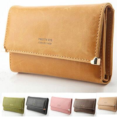 Women Ladies Fashion PU Leather Wallet Button Clutch Purse Lady Long Handbag Bag