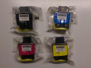 4-X-Brother-LC900-C-M-Y-Bk-Multipack-Dcp-110C-115C-117C-120C-310CN-315CN-340CW