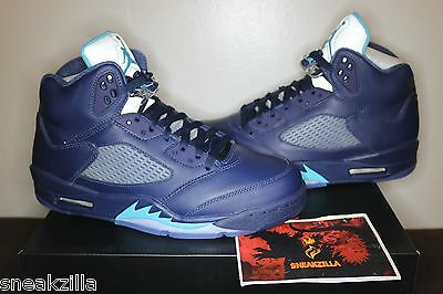 Nike Air Jordan Retro V 5 HORNETS Midnight Navy Blue Pre-Grape 136027-405 5y-14