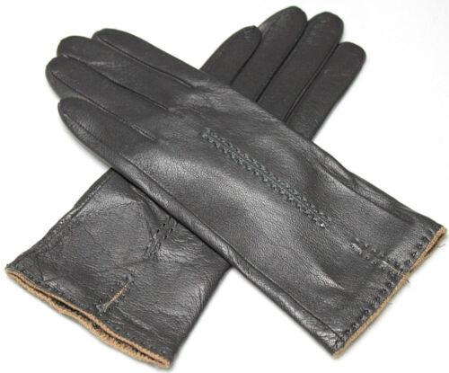 Damen  Echt Leder Handschuhe Gefüttert  Gr  S   M   L   XL   XXL   //G20