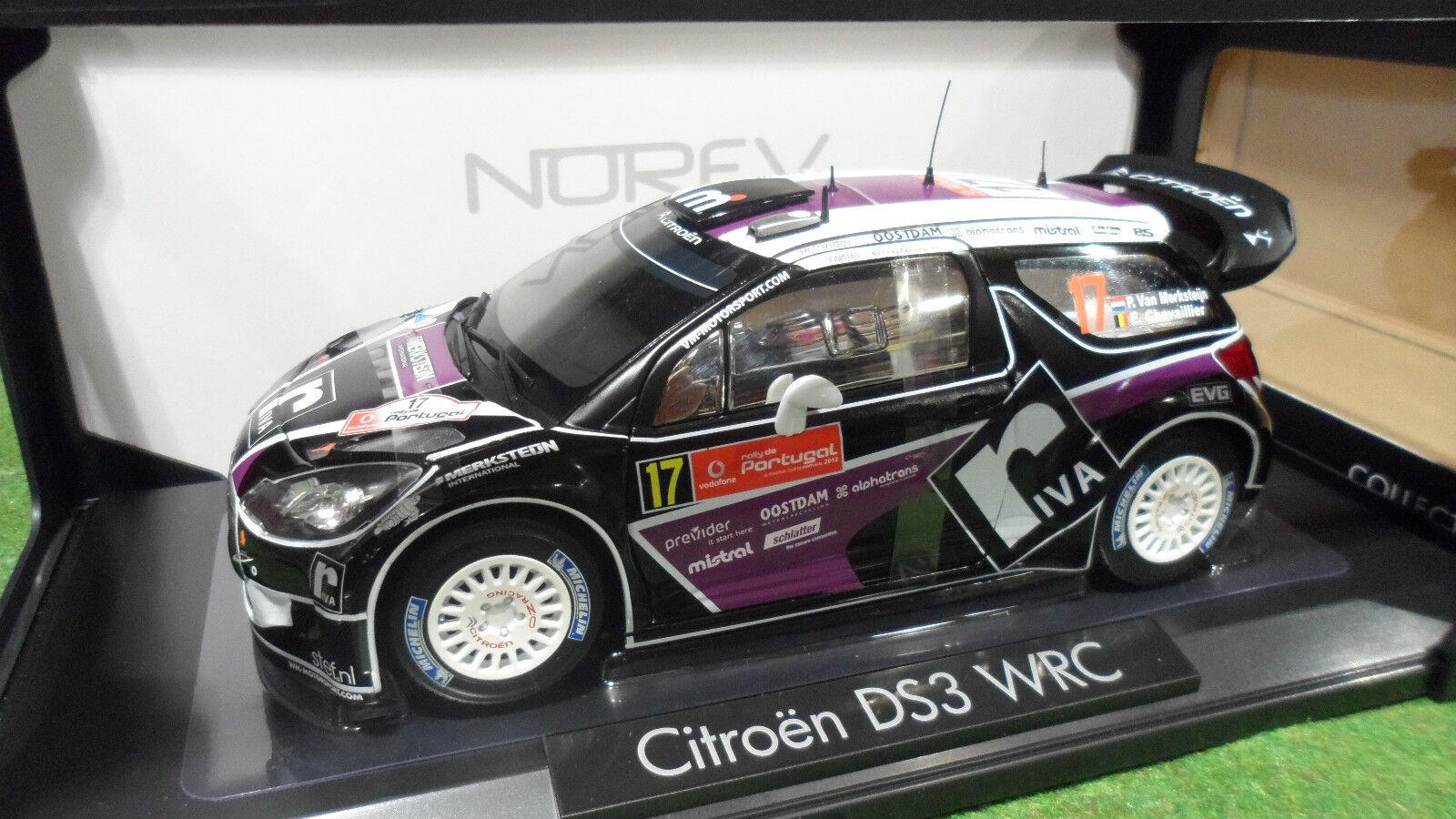 Citroen ds3 wrc rally portugal 2012 to 1  18 d norev miniature voiture 181559  en ligne pas cher