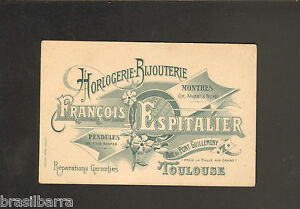 CARTE DE VISITE Francois ESPITALIER TOULOUSE Vers 1900