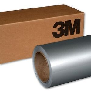 20CM-x-30CM-Film-3M-1080G120-vinyl-gris-clair-brillant-metallise-thermoformable