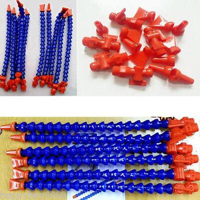 12pcs Lathe CNC Machine Adjustable Flexible Plastic Water Oil Coolant Pipe Hose