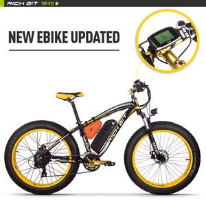 RICHBIT-Electric-Bike-Bicycle-Fat-Tire-ebike-21s-48V1000W-Compute-Speedometer