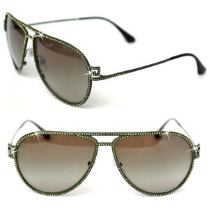 83d257ede05f Image is loading 470-VERSACE-Crystal-PILOT-SUNGLASSES-w-Certificate