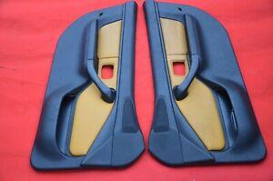 BMW-Z3-Roadster-Coupe-Interno-Porta-Pannello-Orlo-Pelle-Coppia-Giallo-LH-Rh