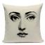 thumbnail 17 - Fornasetti Style Pillow Case Cover Sofa Home Textile Vintage Cushion Linen Decor